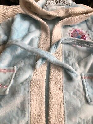 Girls Dressing Gown frozen elsa and Anna Age 8