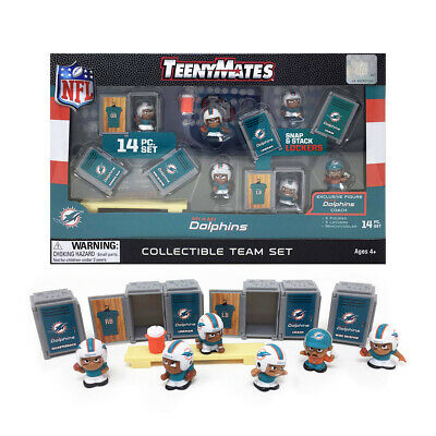 Miami Dolphins 14 Pc. 2019 Nfl Teenymates Team Set New In Box Nfl Licensed