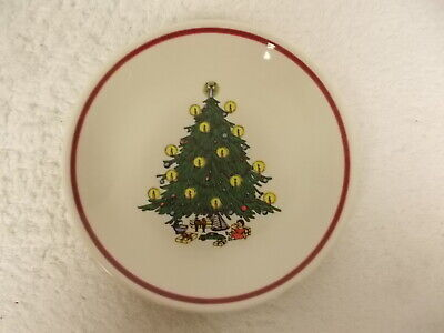 Vintage Homer Laughlin Best China Holiday Christmas Tree Dessert Bread Plate