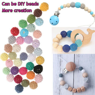 Earring Accessories Ball Of Yarn Baby Teether Chew Beads Mom DIY Necklace