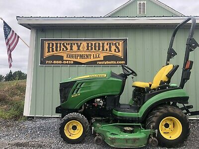 """2015 John Deere 1025R 4X4 Compact Tractor , 60"""" Mower Deck Low Cost Shipping"""