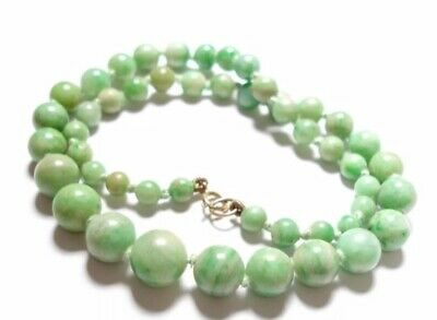 Beautiful vintage Chinese jade necklace - China mid 20th century