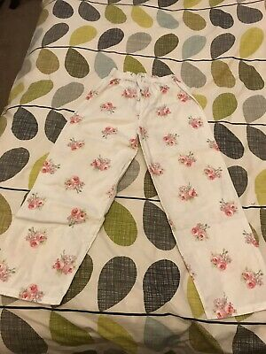 Girls White Company Floral Pj Bottoms  Age 9-10 Years