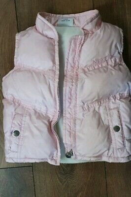 Girls Next Body Warmer Puffer Jacket Gilet Age 2-3 Years coat pink lined warm