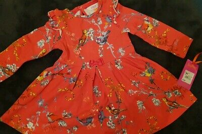 Girls Ted Baker Long Sleeved Dress Age 3-4 Years Red Stunning VGC designer