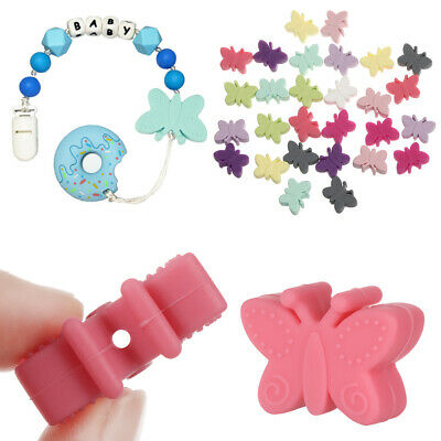 Necklace DIY Molar Toy Butterfly Teether Silicone Beads Baby Teething