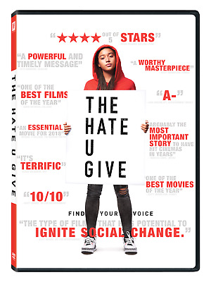 The Hate U Give (DVD) BRAND NEW! Sealed, FREE SHIPPING in USA!!