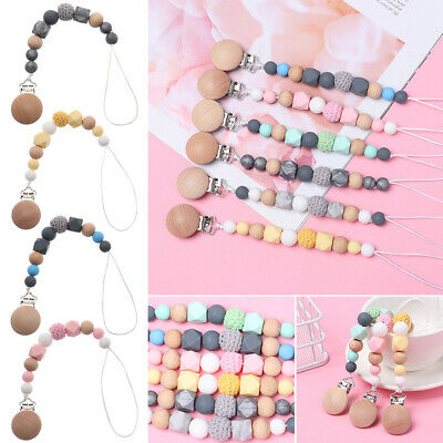 Product Chew Teething Toy Pacifier Clip Chain Baby Nipple Clasps Dummy Holder