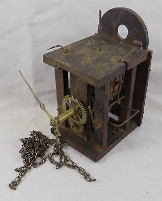 Black Forest Postmans Small Alarm Clock Movement - Nice Hands - Spares Or Repair