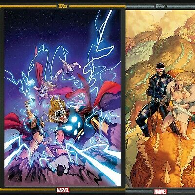 Topps Marvel Collect Comic Book Day Gold Thor And Silver X-Men