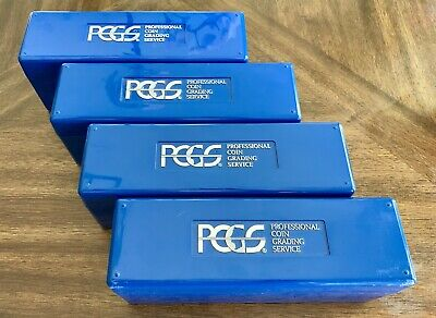 LOT OF FOUR(4) PCGS Slab Boxes Coin Slab Storage Blue /Black PCGS Certified Coin