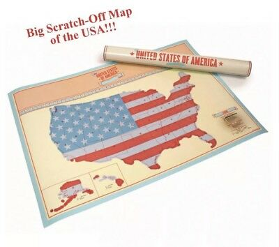 Scratch Where You Been in USA Scratch-Off Map United States America Edition Big
