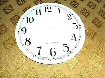 For American Clocks-Seth Thomas Paper (Card) Clock Dial- 124mm M/T-GLOSS-Arabic