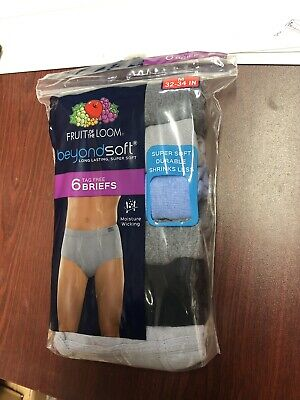 Fruit of the Loom Men's BeyondSoft 6 Pack Fashion Briefs Asst Colors S M XL!!