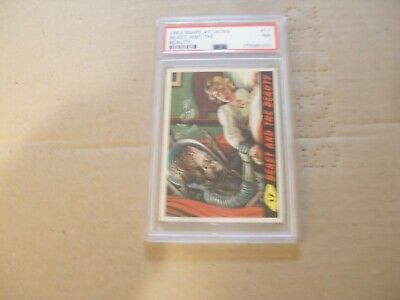 "Mars Attacks 1962 Psa Nm 7 Card # 17 ""Beast And The Beauty"""