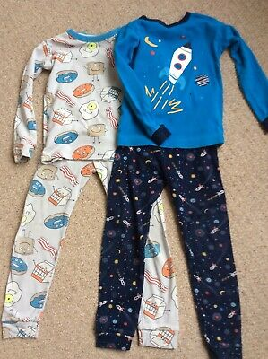 I Am one 2 Glitter Pyjamas Aged 2-3 Boys Blue Personalised Birthday Space Rocket