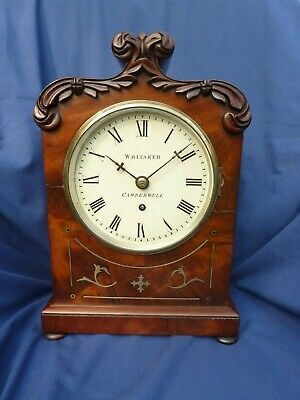 Early Victorian eight-day fusee timepiece by William Whitaker of Camberwell