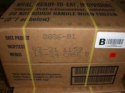 The Wornick Co Military MRE Ready to Eat Survival Case B 12 Meals 3/2021 FRESH