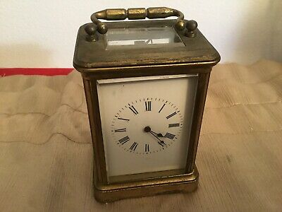 Antique French Brass Carriage Clock