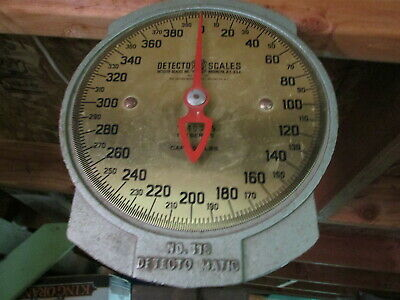 Vintage DETECTO #118 - 400 pound Scale - Jacobs Bros Inc Brooklyn USA NICE