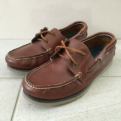 Marks and Spencer Deck Boat Shoes Brown Leather Men's Size UK 9 | EUR 43 Lace Up
