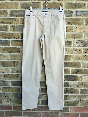 RALPH LAUREN Trousers Chino Mens/Boys W30 32L Slim Fit Zipper Fly Beige