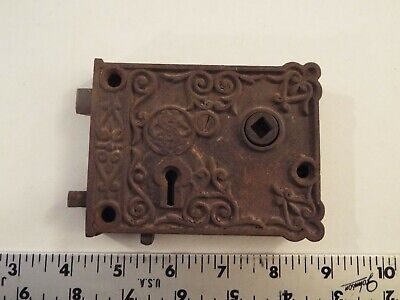 Vintage Antique Cast Iron? Ornate Door Lock-Skeleton Key-Metal-Hardware-Rare***