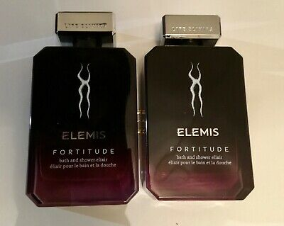 2 x Elemis Fortitude Bath And Shower Elixir 100ml (200ml) new unboxed