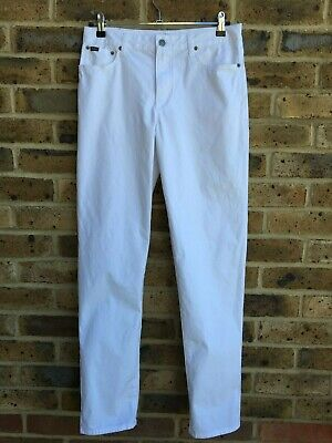 RALPH LAUREN Trousers Chino Mens/Boys W30 L31 Slim Fit Zipper Fly White