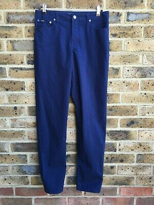 RALPH LAUREN Trousers Chino Mens/Boys W30 L31 Slim Fit Zipper Fly Blue