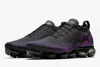 Nike Mens SZ 11 Air VaporMax Flyknit 2 Midnight Purple/Black 942842-013