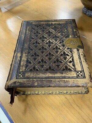 Antique 1874 Family Holy Bible New And Old Testament Apocrypha Holman's Edition