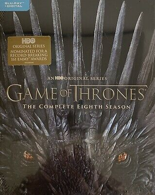 GAME OF THRONES  ~ THE COMPLETE EIGHTH SEASON ~ Blu-Ray + Digital *New *Sealed•