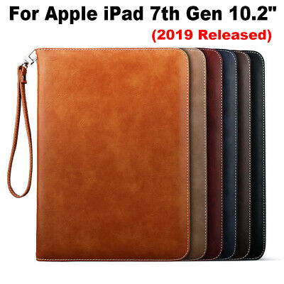 """Luxury Leather Wallet Smart Stand Case Cover For Apple iPad 7th Gen 10.2"""" 2019-"""