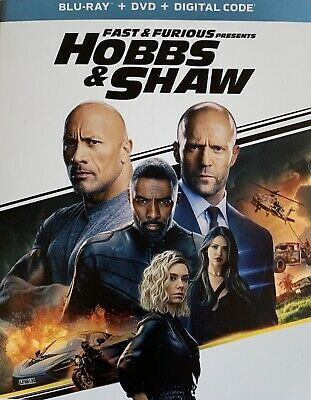 FAST & THE FURIOUS ~HOBBS & SHAW ~ Blu-Ray + DVD + Digital *New *Factory Sealed