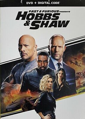 FAST & THE FURIOUS ~ HOBBS & SHAW  <   DVD + Digital  >   *New *Factory Sealed