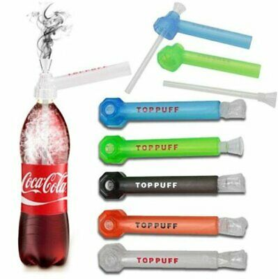 Portable Top Puff Water Glass+Plastic Screw on Bottle Converter Hookah On-the-Go