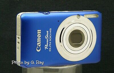 CANON ELPH 100 HS BLUE MECHANICALLY RECONDITIONED DIGITAL CAMERA-12.1 Megapixel