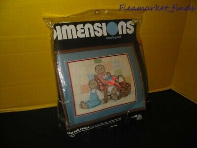 Dimensions Needlepoint Folk Doll Family 1987 Made in USA
