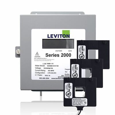 Leviton 2K480-1W Series 2000 480V 3P4W 100A Indoor Kit with 3 Split Core CTs