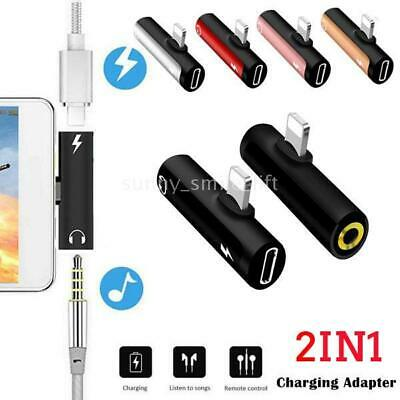 Splitter  Headphone Charge Adapter for iPhone X XS MAX XR 8 Plus 3.5mm jack