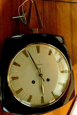Junghans Wall Clock Art Deco with Schlagwerk W274/210 a-3 Sec 24h Made IN