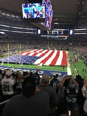 DALLAS COWBOYS vs LOS ANGELES RAMS  2 Tickets Sect. 245 Lowers with Blue Parking