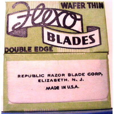 Vintage  FLEXO WAFER THIN  DE Safety Razor Blade