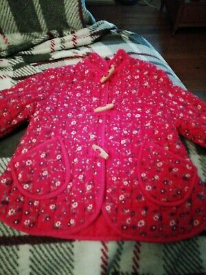 Quilt Infant Girl Jacket Toggle Closure, Pit To Pit 12in