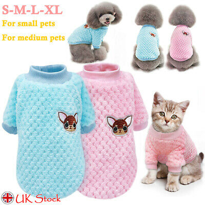 ✅Pet Clothes Knitted Puppy Dog Cat Sweater Jumper Clothes Apparel For Small Dogs