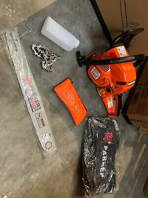 AOSOME 62CC Petrol Chainsaw Powerful Gasoline Chain Saws with 2 Chainsaw Chains Carry Bag