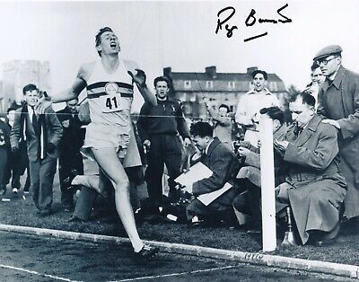 Roger Bannister, Hand Signed 10 X 8 Photo.