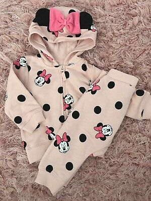 Baby Girls Cute Disney Minnie Mouse Tracksuit Outfit Size 3-6 Months