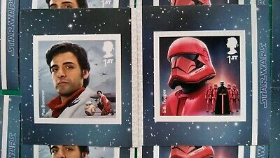 2019 Star Wars Self Adhesive Poe & Sith Trooper set of 2 mint Ex-booklet